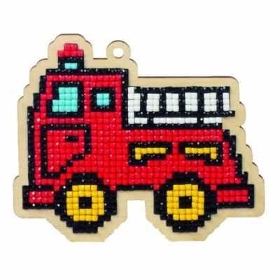 Мозаичная картина Гранни Алмазная вышивка W0153 - Пожарная машинка - подвеска