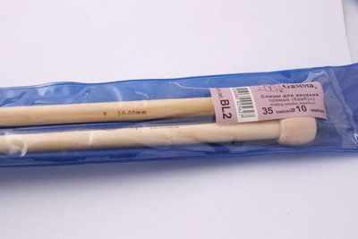 Фото - Инструмент для вязания Gamma Спицы прямые Гамма BL2 бамбук 10,0 мм 35 см спицы прямые gamma металлические диаметр 5 мм длина 20 см 5 шт