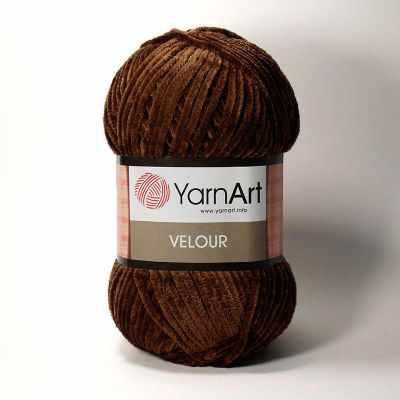Пряжа YarnArt Пряжа YarnArt Velour Цвет. 852 Коричневый