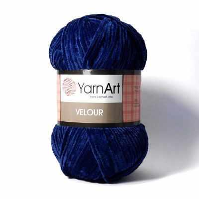 Пряжа YarnArt Пряжа YarnArt Velour Цвет. 848 Т.синий