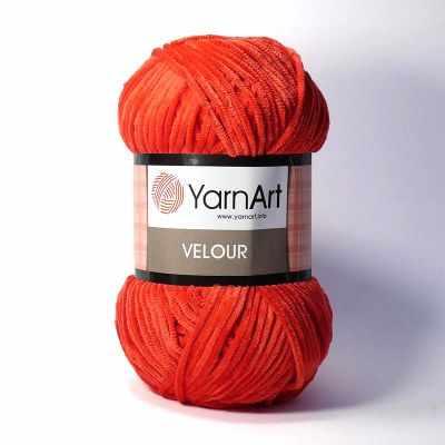 Фото - Пряжа YarnArt Пряжа YarnArt Velour Цвет. 846 Красный пряжа yarnart пряжа yarnart tulip цвет 421 красный