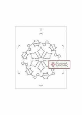 Аксессуар для шитья Стеганый цветочек T10 Снежинка