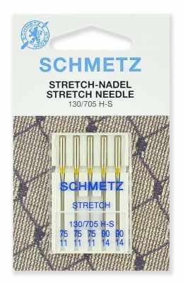 0701470 Иглы стретч Schmetz 130/705H-S № 75(3), 90(2) 5 шт.