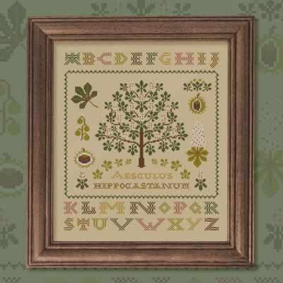 Схема для вышивания OwlForest 0021-К-С Каштан - схема для вышивания (OwlForest)