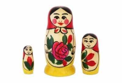 01-003-000 Матрешка  Россияночка в/х 3 кук.
