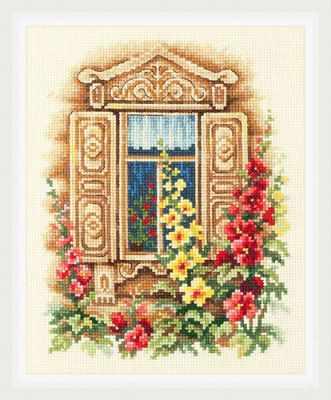 Набор для вышивания Чудесная игла 74-02 Милое окошко 1872 романтик чудесная игла чудесная игла