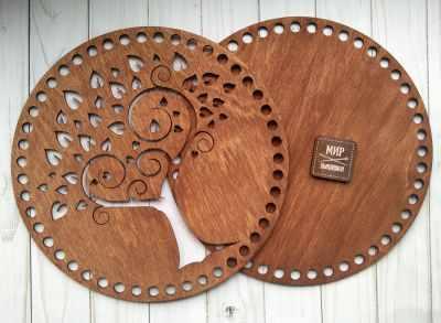 Заготовка для творчества Березка Набор основ для корзины, круг d260, дерево