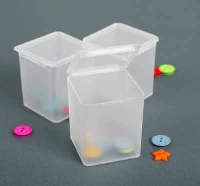 Органайзер - 2610602 Контейнеры для хранения мелочей, 3*3*5,5см, 3шт, цвет прозрачный