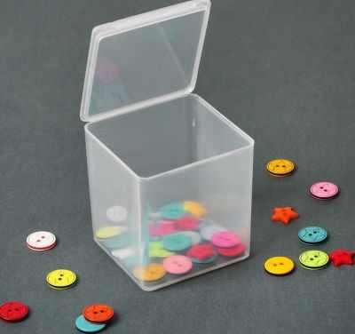 Органайзер - 2610606 Контейнер для хранения мелочей, 5,5*5,5*6см, цвет прозрачный