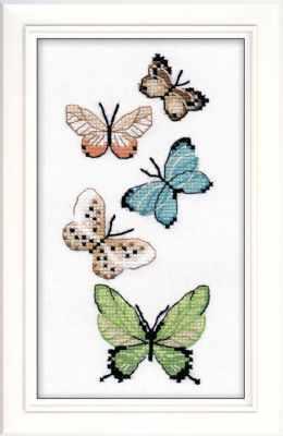 Набор для вышивания Овен 1076 Бабочки