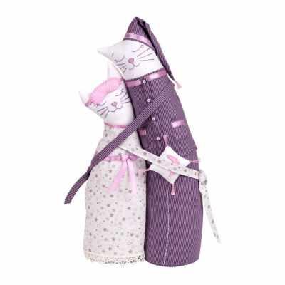 Набор для изготовления игрушки Miadolla C-0203 Коты-обнимашки пижамные (Miadolla)
