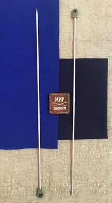 Инструмент для вязания Hemline 940235 Спицы прямые алюминиевые с покрытием 35см, 3,5мм hemline карабин пластиковый 38