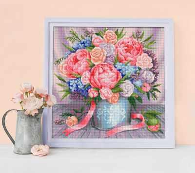Алмазная мозаика Алмазная живопись Алмазная вышивка Милый букет (АЖ-1655) - картина стразами