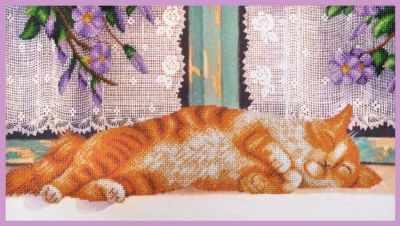 Набор для вышивания Картины бисером Р-351 Рыжий кот - набор для вышивания