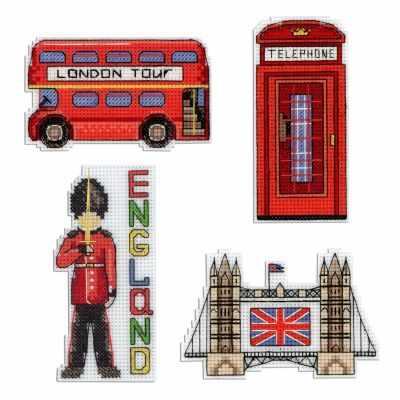 Набор для вышивания МП Студия Р-305 Англия. Магниты