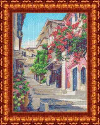 Основа для вышивания с нанесённым рисунком Каролинка КБП 3045 Улочки Италии - схема для вышивания (Каролинка)