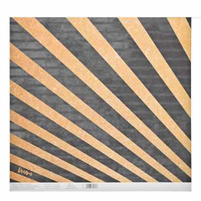 3330269 Бумага для скрапбукинга с блёстками «Золотые лучики»