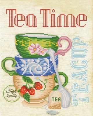 Основа для вышивания с нанесённым рисунком Марiчка РКП-675 Время пить чай - схема для вышивания (Марiчка)