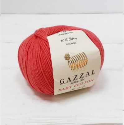 Пряжа GAZZAL Пряжа GAZZAL Baby Cotton Gazzal Цвет.3418 Красный