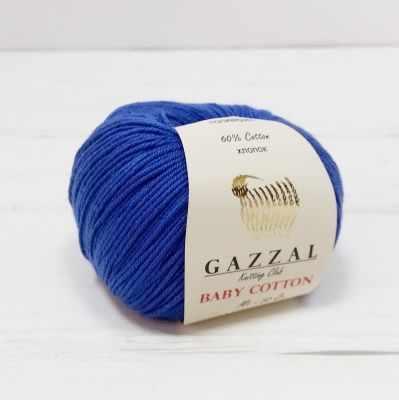 Пряжа GAZZAL Пряжа GAZZAL Baby Cotton Gazzal Цвет.3421 Василек