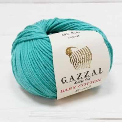 Пряжа GAZZAL Пряжа GAZZAL Baby Cotton Gazzal Цвет.3426 Изумруд