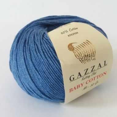 Пряжа GAZZAL Пряжа GAZZAL Baby Cotton Gazzal Цвет.3431 Джинс