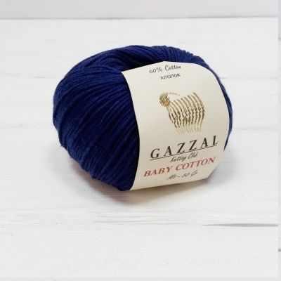Пряжа GAZZAL Baby Cotton Gazzal Цвет.3438 Темно синий