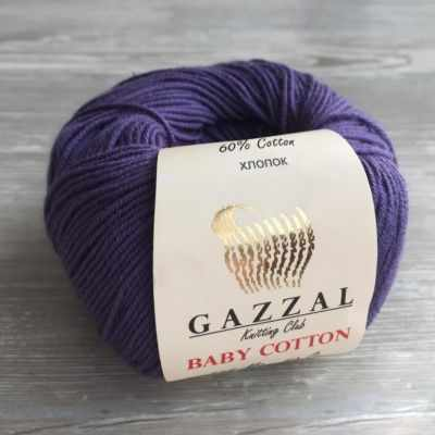 Пряжа GAZZAL Пряжа GAZZAL Baby Cotton Gazzal Цвет.3440 Фиолетовый