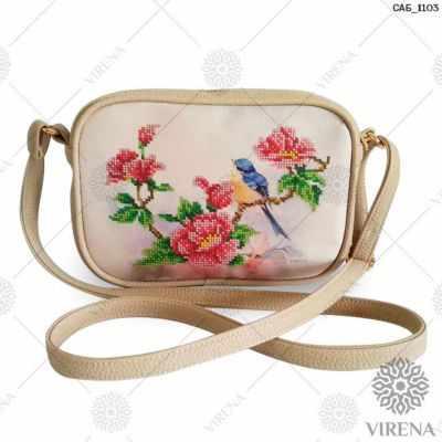 Набор для вышивания VIRENA САБ_1103 Набор для вышивания на сумке. Бежевый. Шиповник