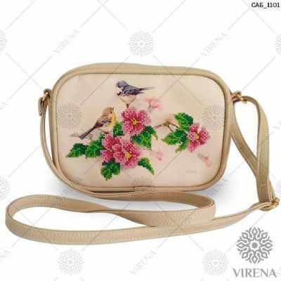 Набор для вышивания VIRENA САБ_1101 Набор для вышивания на сумке. Бежевый. Птицы в саду