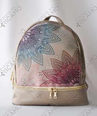 Набор для вышивания VIRENA Рюкзак_015 Набор для вышивания на рюкзаке. Бежевое золото. Мандала