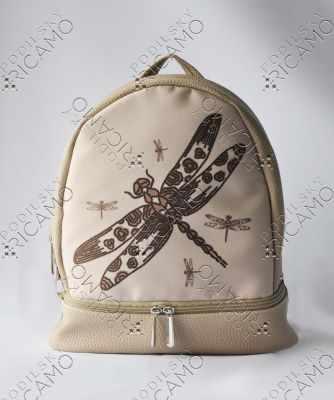 Набор для вышивания VIRENA Рюкзак_013 Набор для вышивания на рюкзаке. Бежевый. Стрекоза