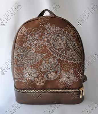 Набор для вышивания VIRENA Рюкзак_008 Набор для вышивания на рюкзаке. Темно-коричневое золото. Орнамент