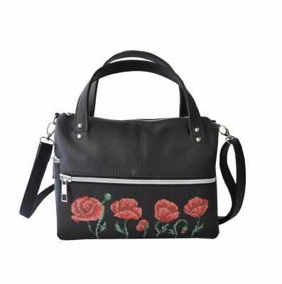 Набор для вышивания VIRENA САБ_6001 Набор для вышивания на сумке. Черный. Маки