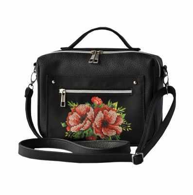 Набор для вышивания VIRENA САБ-5003 Набор для вышивания на сумке. Черный. Маки