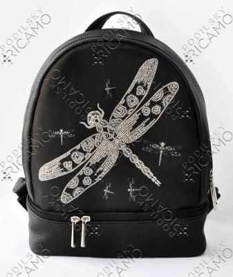 Набор для вышивания VIRENA Рюкзак_005 Набор для вышивания на рюкзаке. Черный. Стрекоза
