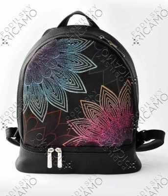 Набор для вышивания VIRENA Рюкзак-002 Набор для вышивания на рюкзаке. Черный. Мандала