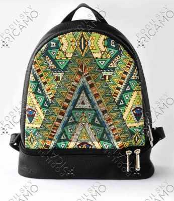 Набор для вышивания VIRENA Рюкзак_001 Набор для вышивания на рюкзаке. Черный. Геометрия