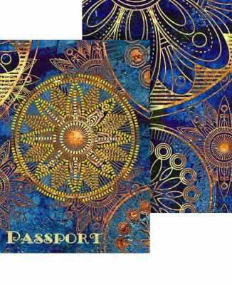 Набор для вышивания VIRENA ОП_026 Набор для вышивания на обложке для паспорта. Мандала