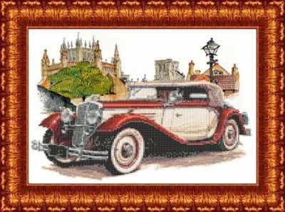 Основа для вышивания с нанесённым рисунком Каролинка КБП 3047 Родстер Wikov 40 - схема для вышивания (Каролинка)