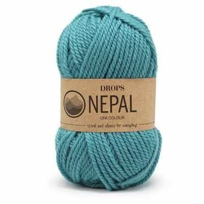 Пряжа DROPS Nepal Цвет. 8911 Пл.бирюзовый