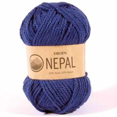 Пряжа DROPS Nepal Цвет. 6790 Синий