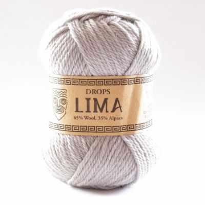 Пряжа DROPS Lima Цвет.9010 Светло серый