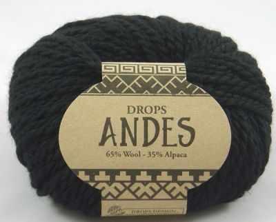 Пряжа DROPS Andes Цвет. 8903 Чёрный