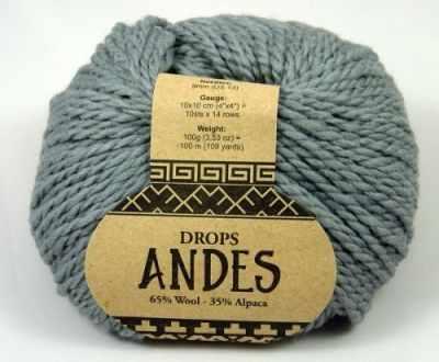 Пряжа DROPS Пряжа DROPS Andes Цвет.8465 Серый