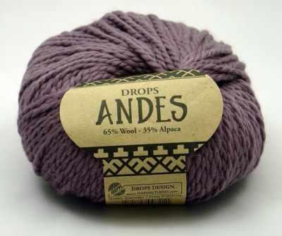 Пряжа DROPS Andes Цвет. 4300 Пыльная сирень