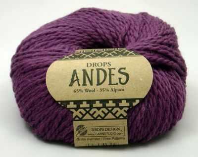 Купить со скидкой Пряжа DROPS Andes Цвет. 4090 Темно лиловый