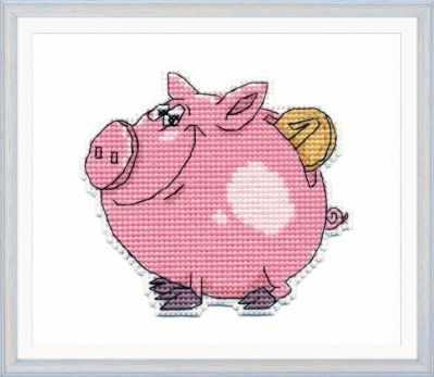 Набор для вышивания Овен 1086 Свинка-копилка