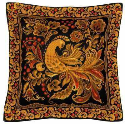 Фото - Набор для вышивания Риолис (Сотвори Сама) 1758 Подушка/Панно Хохлома набор для вышивания риолис сотвори сама 1600 подушка панно венское кружево