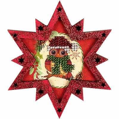 Набор для вышивания Волшебная Страна FLE-002 Ёлочная игрушка для вышивания бисером